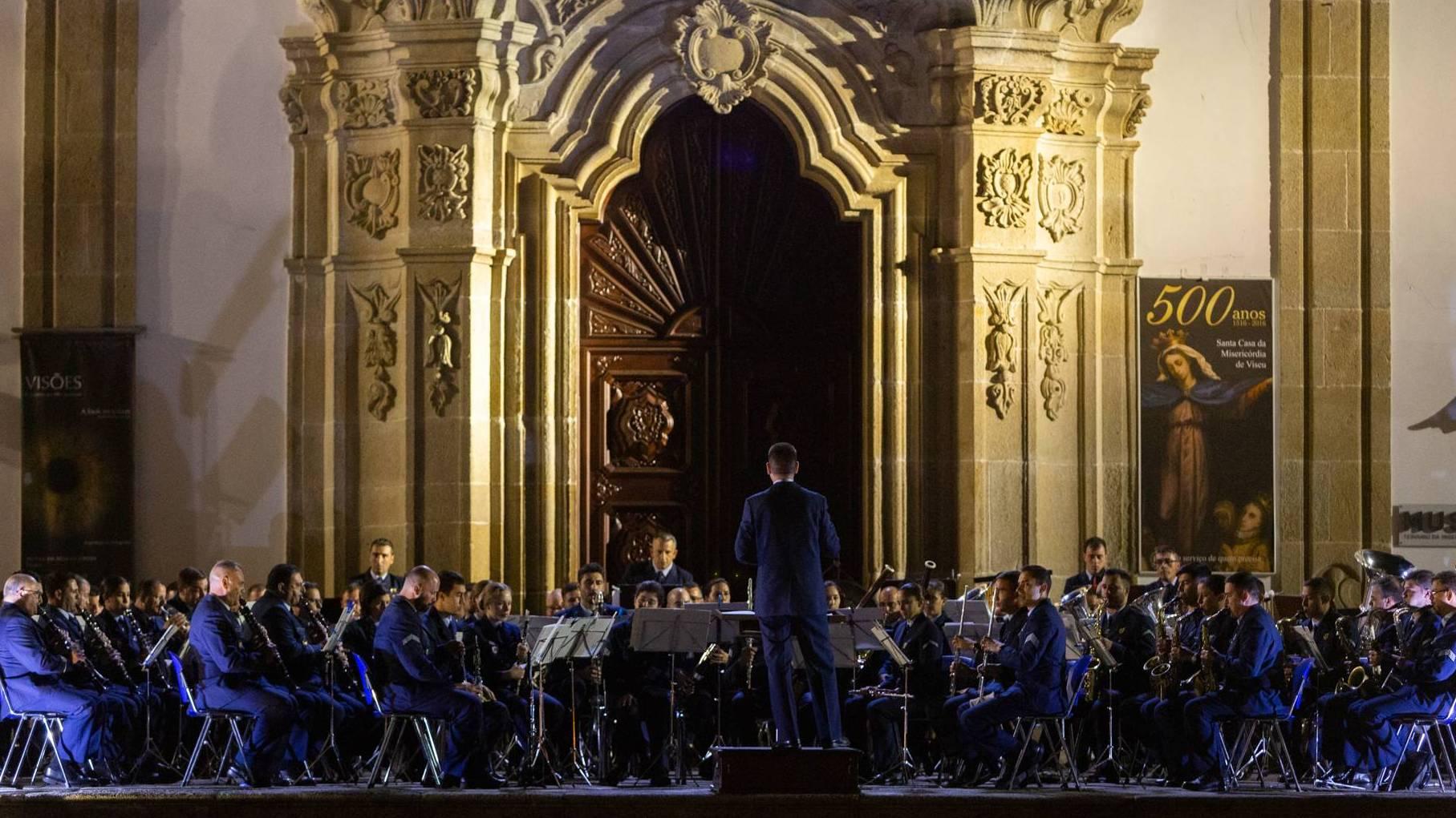 Banda de Música da Força Aérea alegra noites da cidade de Viseu